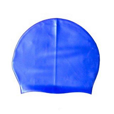 Touca Natação De Silicone De Alta Resistência Azul