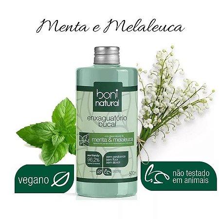 Enxaguante Bucal s/ Fluor Menta e Melaleuca 500 ml Boni