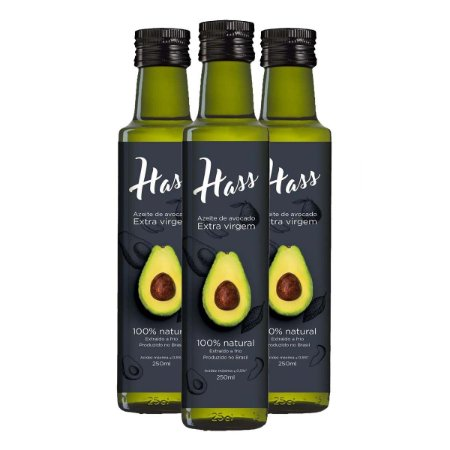 Kit 3 Azeite Hass 250 Ml Cada Óleo De Abacate Avocado