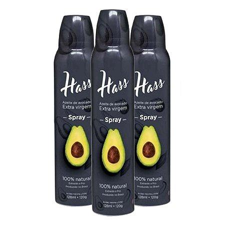 Kit 3 Azeite Hass 128 Ml Cada Spray Óleo De Abacate Avocado