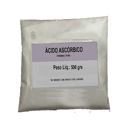 Ácido Ascórbico - 500 grs 100% Pura - Vitamina C Em Pó
