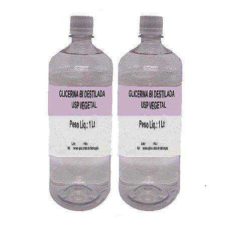 Glicerina Bi Destilada USP Vegetal 2 Lt (2600 grs) Bella Donna