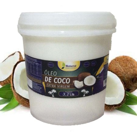 Óleo de Coco Extra Virgem Balde 3,2 lts Natured