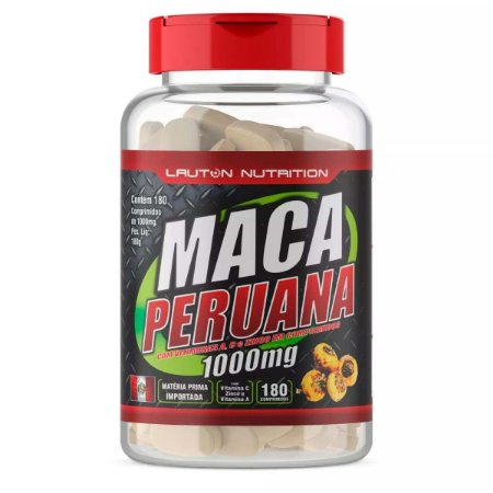1 Maca Peruana 1000mg - 180 Tabs - Lauton Nutrition