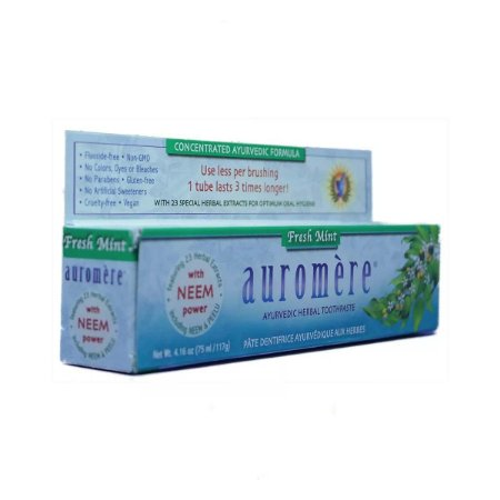 Creme Dental Natural Auromere Fresh-Mint