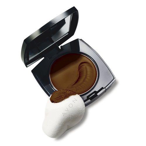 Avon Ideal Face - Base Compacta de Múltipla Ação Étnica - Marrom Café / 9g