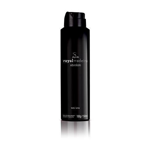 Jequiti Royalmadeira Absoluto - Desodorante Aerossol Corporal Body Spray / 100g