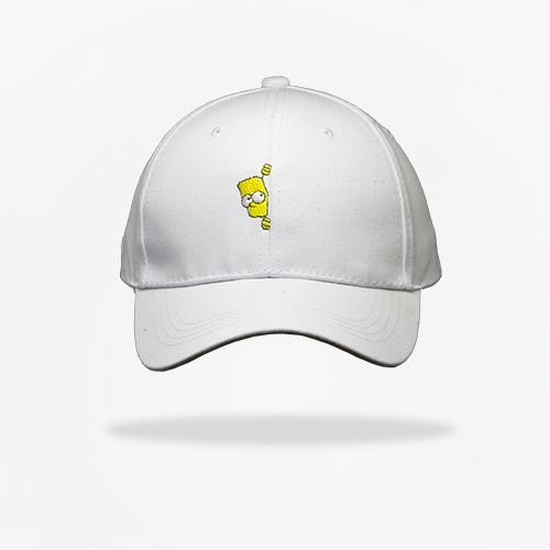 Dad Hat Bart Simpson - White - Brothers Place 787f85246a9