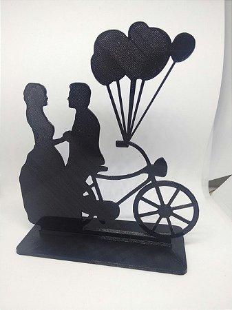 Topo de Bolo Casamento - Bicicleta