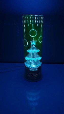 Luminária PVC Natal com Lampada LED colorida.
