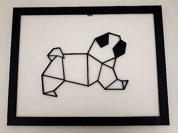 Quadro Geométrico Pug