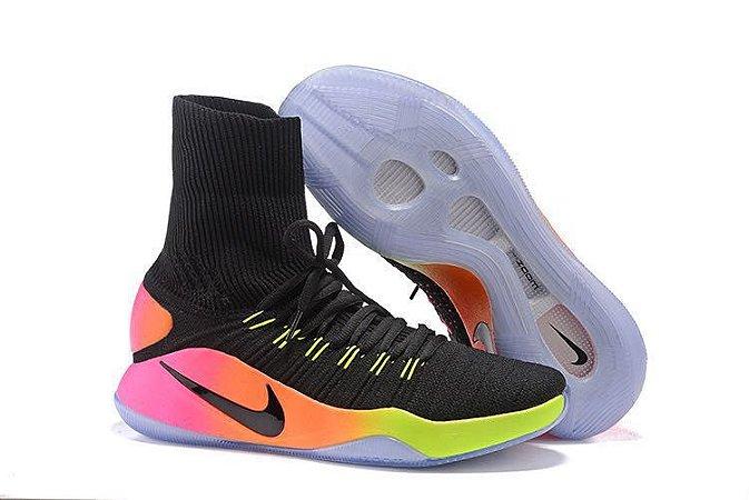 3f6bb44353c Tênis Nike Hyperdunk Flyknit Masculino Preto Colors