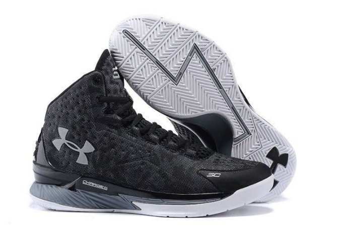 23b3c3be236 Tênis Masculino Basquete Under Armour Curry One Preto e Cinza ...
