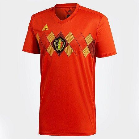 58cf3d4d2e Camisa Seleção Bélgica Home 2018 s n° Torcedor Adidas Masculina - Vermelho