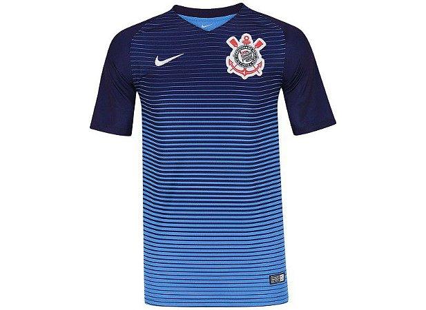 2f5d48e29a Camisa Corinthians III 17 18 S Nº Torcedor Nike - Azul