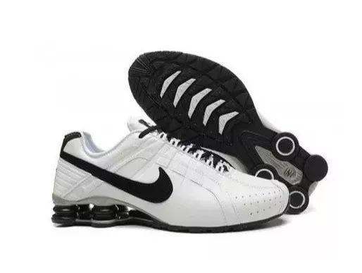 san francisco f8971 83f91 Nike Shox Junior Branco e Preto