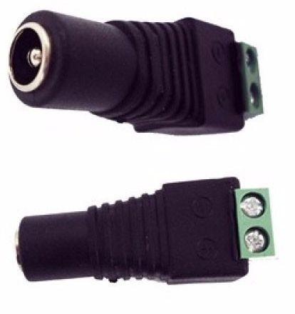 CONECTOR P4 FEMEA COM BORNE - KIT 10 PEÇAS