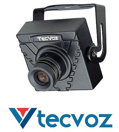 MINI CÂMERA TECVOZ LENTE 3.6mm SENSOR 1/3