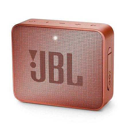 Caixa de Som Portátil JBL GO 2 - Bluetooth, À Prova D'água e Poeira, Cinnamon