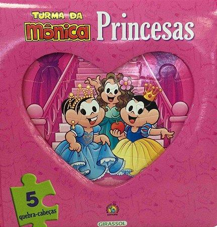 Turma da Mônica - Livro e Quebra-Cabeça Princesas