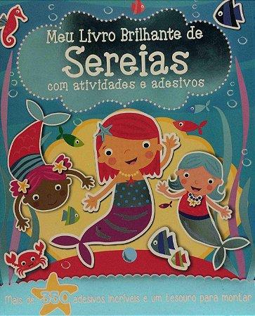 Meu Livro Brilhante De Sereias com Atividades e Adesivos