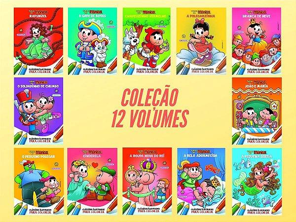 Coleção Turma da Mônica em Clássicos para Colorir - 12 Volumes