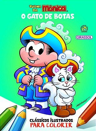 Turma da Mônica Clássicos para Colorir - O Gato de Botas