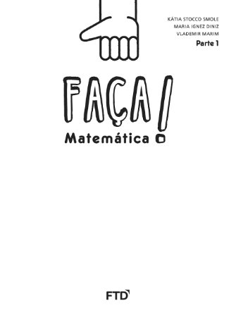 Conjunto Faça Matemática - Saber - 1º ano