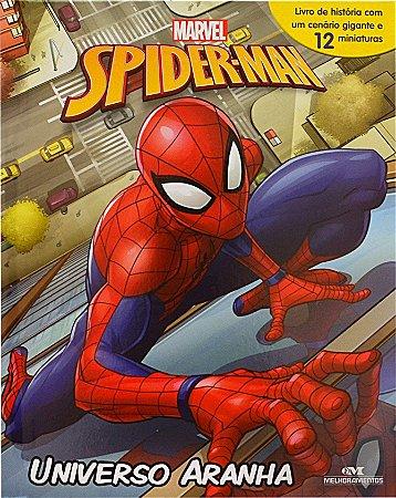Spider Man – Universo Aranha - Livro com Cenário e Miniaturas