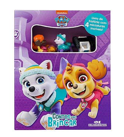 Paw Patrol - Patrulha Canina - Contos para Brincar com 5 Miniaturas
