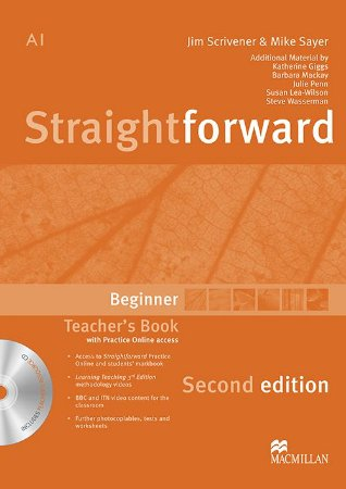 Straightforward 2nd Edition Teacher's Book W/Resource CD - Beginner