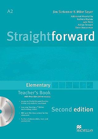 Straightforward 2nd Edition Teacher's Book W/Resource CD-Elem.