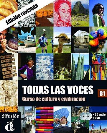 Todas Las Voces Libro Del Alumno B1 + CD + DVD