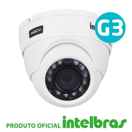 Câmera Intelbras Dome Multi HD 3120D G3 Alta Definição (1.0MP   720p   2.8mm   Metal)