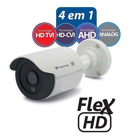 Câmera Tecvoz Bullet Flex HD CCB-128P Alta Definição (1.0MP   720p   2.8mm   Plast)