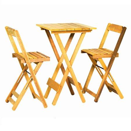 Conjunto Bistrô 01 Mesa com 02 Cadeiras Itaúba
