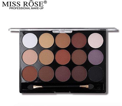Paleta de Sombras com 15 Cores Miss Rôse Cor 1