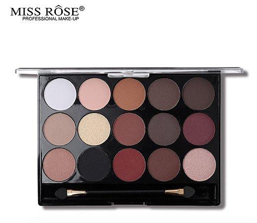Paleta de Sombras com 15 Cores Miss Rôse Cor 2