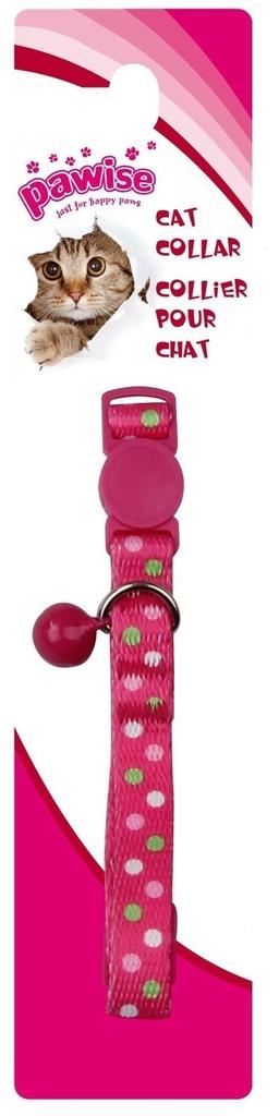 Coleira Gato Polka Dots Pink Pawise