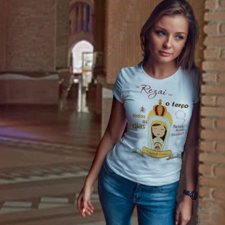 Camiseta Virgem de Fátima