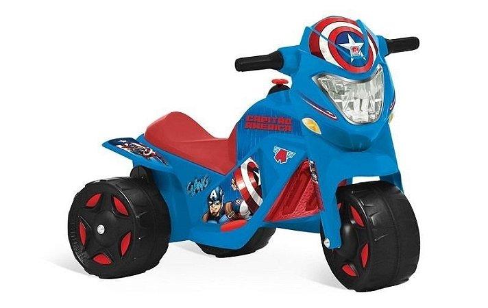 Moto Elétrica Capitão América 6v 2 Marchas Bandeirante