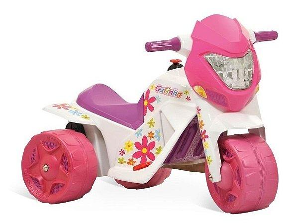 Mini Moto Elétrica Infantil Ban Moto Gatinha 6v Bandeirante