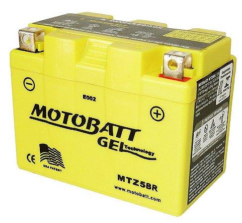 Bateria Gel Motobatt Mtz5br Ytx4l-bs Honda NX 125 Bros KS