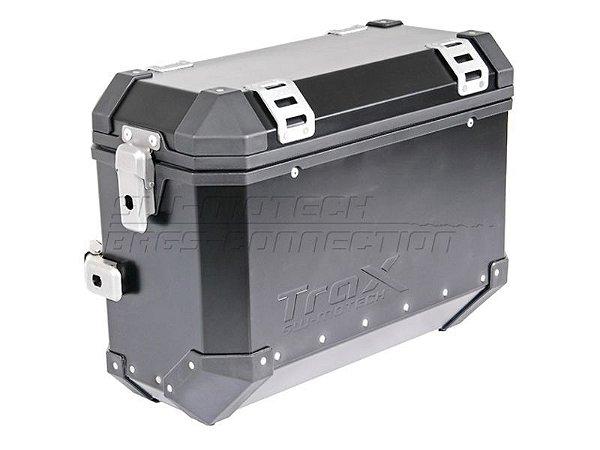 Mala Lateral Direita Em Alumínio Trax Evo 37 Litros Preta