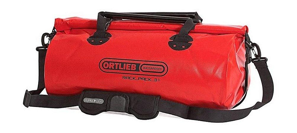 Mala Impermeável Média Ortlieb Rack Pack 31 Litros Vermelha