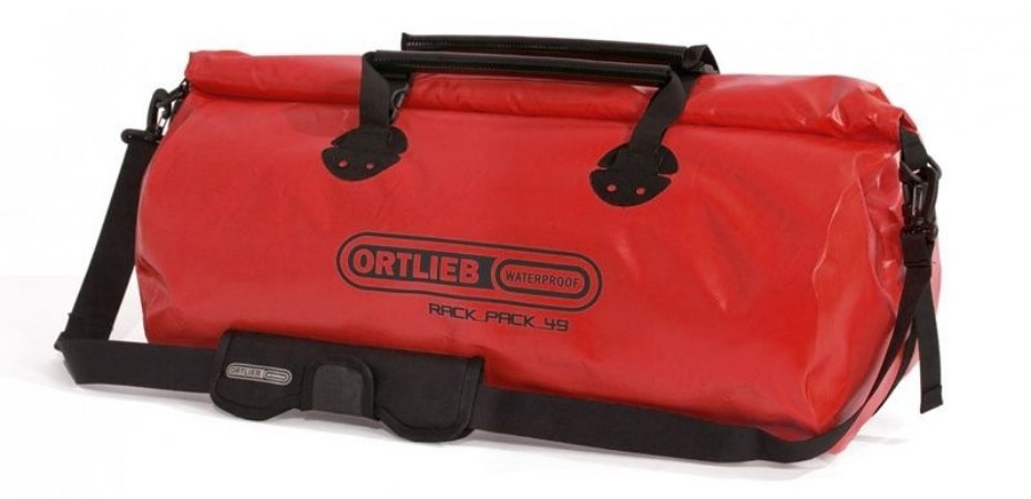 Mala Impermeável Grande Ortlieb Rack Pack 49 Litros Vermelha