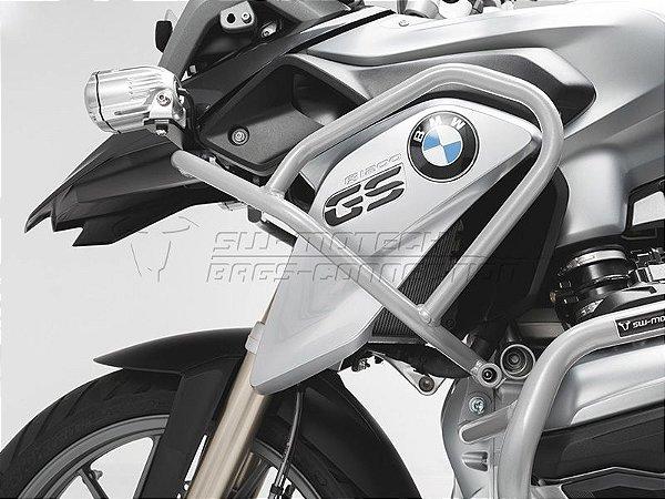Protetor De Motor Lateral Superior Prata BMW R 1200GS 2014