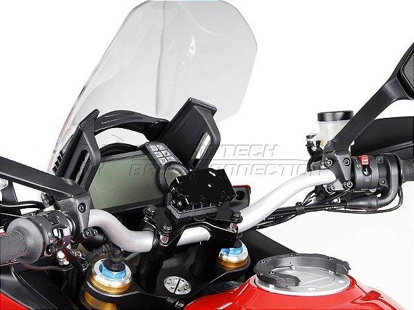 Suporte De Fixação Para GPS Guidão SW-Motech Ducati Multistrada