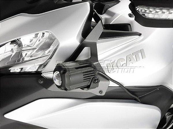 Kit Fixação de Farol Auxiliar Preto SW-Motech Ducati Multistrada 1200