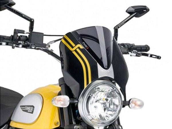 Bolha Naked Sport Em Acrílico Fumê Escura Ducati Scrambler 2016 Puig